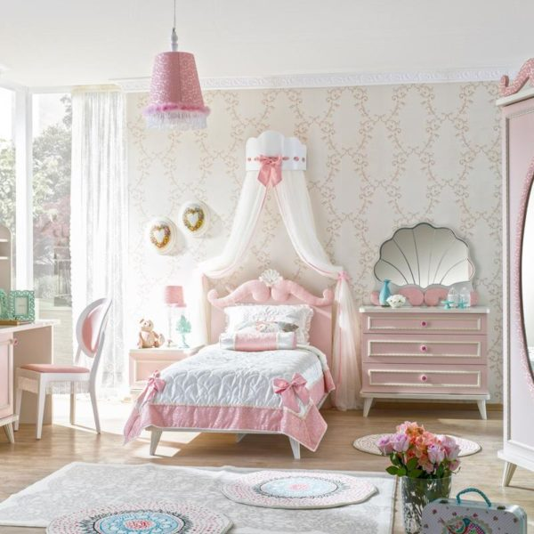 Cameretta walt disney rosa magnolo mobili arredamento for Cameretta rosa