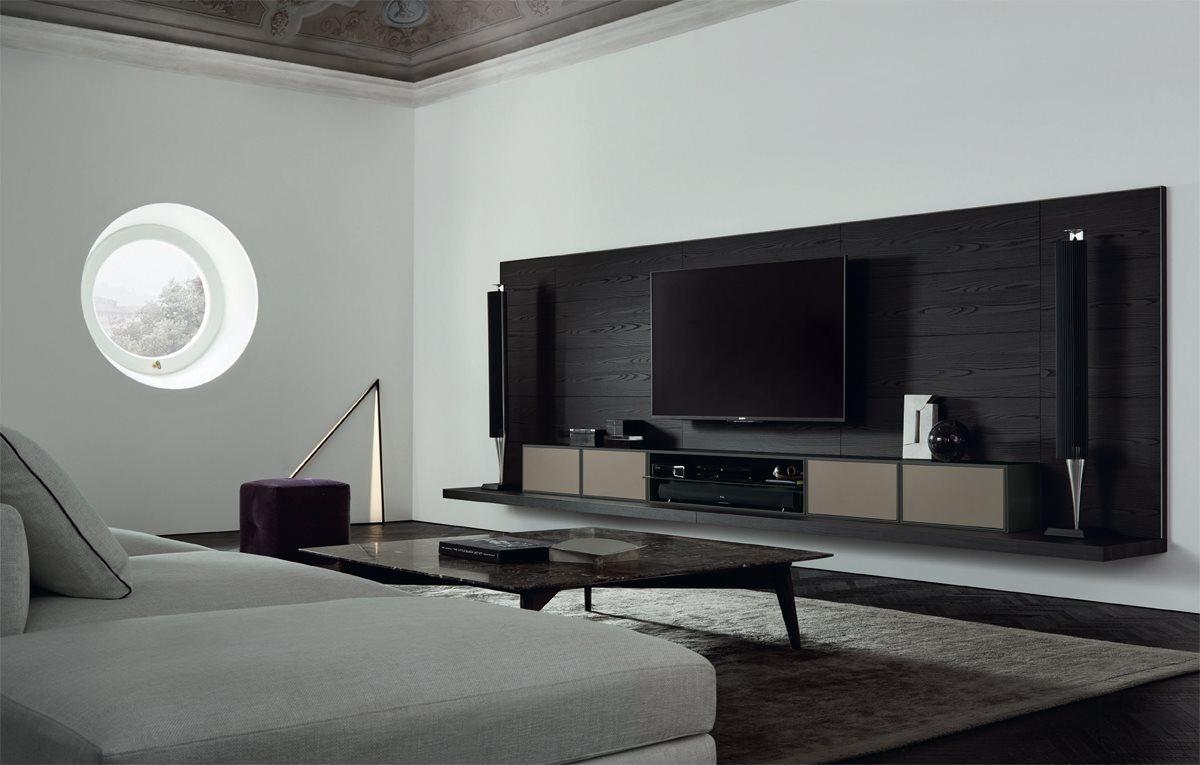 Parete attrezzata poliform quid porta tv magnolo mobili - Camere da letto poliform ...
