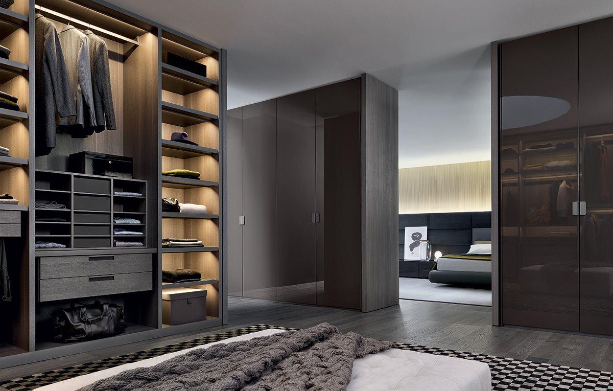 Armadio poliform new entry magnolo mobili arredamento cucine camere da letto sogliano cavour - Camere da letto poliform ...