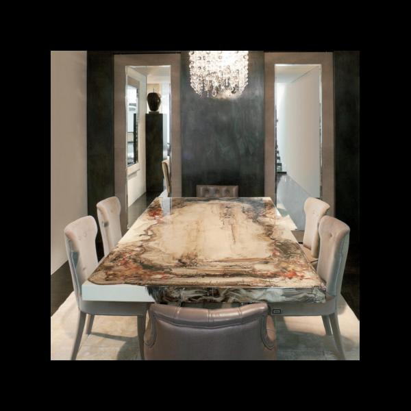Tavolo decoro rugiano magnolo mobili arredamento cucine for Rugiano arredamenti