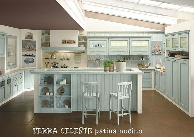 Cucina classica terra magnolo mobili arredamento cucine camere da letto sogliano cavour lecce - Cucine sospese da terra ...